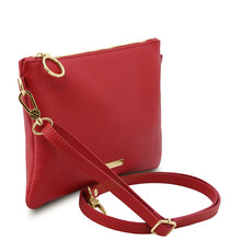 TL Bag Soft leather clutch Lipstick Red
