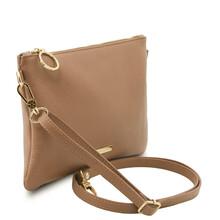 Plic dama din piele naturala grej, Tuscany Leather, TL Bag Soft