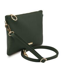 Plic dama din piele naturala verde inchis, Tuscany Leather, TL Bag Soft