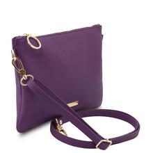 Plic dama din piele naturala violet, Tuscany Leather, TL Bag Soft