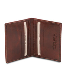 Portcard din piele naturala maro, Tuscany Leather, Exclusive
