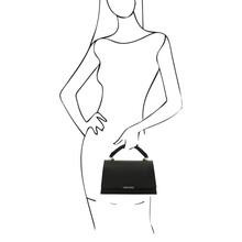 Geanta dama piele naturala neagra Tuscany Leather, TL BagS