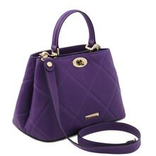 Geanta dama piele naturala violet Tuscany Leather, TL Soft