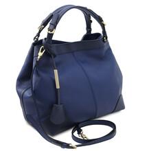Geanta dama piele naturala albastru inchis, Tuscany Leather,  Ambrosia