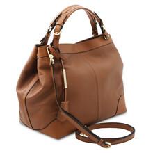 Geanta dama piele naturala coniac, Tuscany Leather,  Ambrosia