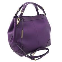Geanta dama piele naturala violet, Tuscany Leather,  Ambrosia