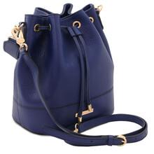 Geanta dama din piele albastru inchis Tuscany Leather, TL Bag