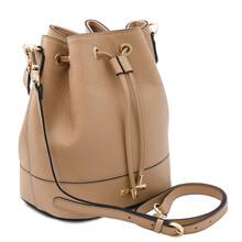 Geanta dama din piele naturala sampanie Tuscany Leather, TL Bag
