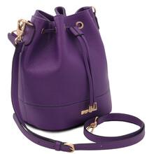 Geanta dama din piele naturala violet Tuscany Leather, TL Bag