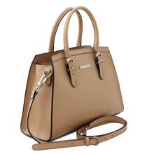 Geanta dama piele naturala sampanie, Tuscany Leather, TL Bag