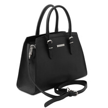 Geanta dama piele naturala neagra, Tuscany Leather, TL Bag