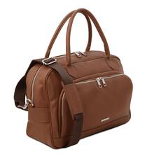 Geanta voiaj piele naturala coniac, Tuscany Leather, TL Voyager Travel