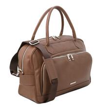 Geanta voiaj piele naturala grej inchis, Tuscany Leather, TL Voyager Travel