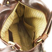 Geanta piele naturala dama Tuscany Leather, maro, MelissaS
