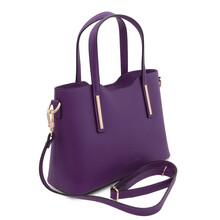 Geanta dama din piele violet Tuscany Leather, Olimpia mica