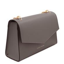 Plic din piele naturala gri, Tuscany Leather, Fortuna
