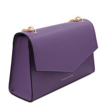 Plic din piele naturala violet, Tuscany Leather, Fortuna