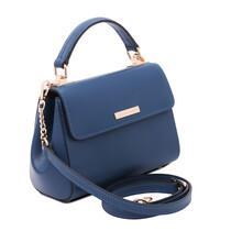 Geanta dama din piele albastru inchis, Tuscany Leather