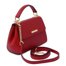 Geanta dama din piele naturala rosie, Tuscany Leather