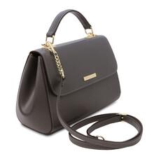 Geanta dama din piele naturala gri, TL Bag Leather