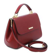Geanta dama din piele naturala rosie, TL Bag Leather