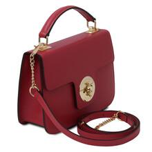 Geanta dama piele naturala rosie, Tuscany Leather, TL Bag