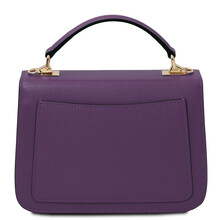 Geanta dama piele naturala violet, Tuscany Leather, TL Bag