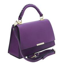 Geanta dama piele naturala violet Tuscany Leather, TL Bag