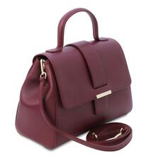 Geanta dama piele naturala bordo, Tuscany Leather, TL Bag