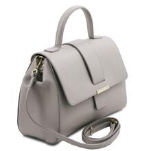 Geanta dama piele gri deschis, Tuscany Leather, TL Bag
