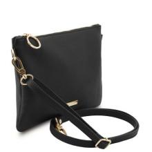 Plic dama din piele naturala neagra, Tuscany Leather, TL Bag Soft