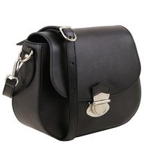 Geanta dama Tuscany Leather din piele neagra Neoclassic
