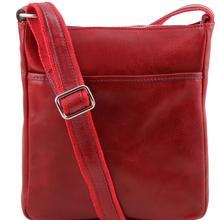 Geanta barbati din piele naturala Tuscany Leather, rosie, Jason