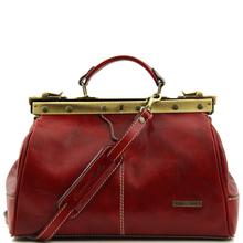 Geanta  Tuscany Leather din piele rosie  doctor gladstone Michelangelo