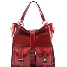 Geanta piele naturala dama Tuscany Leather, rosie, Melissa