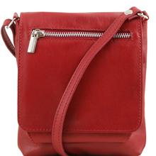 Geanta piele barbati Tuscany Leather, rosie, Sasha
