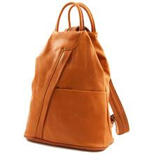 Rucsac dama Tuscany Leather  din piele cognac Shanghai
