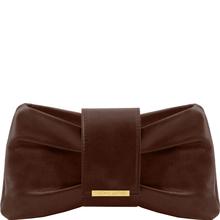 Genti dama   Clutch din piele Maro Inchis - Tuscany Leather