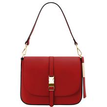 Geanta piele naturala dama Tuscany Leather, rosie, Nausica