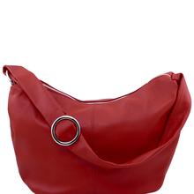 Genti dama | Yvette - Geanta din piele hobo rosie - Tuscany Leather