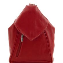Genti dama | Delhi - Rucsac piele rosu - Tuscany Leather