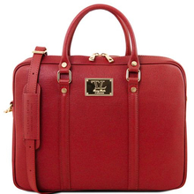 GGeanta laptop dama eleganta Tuscany Leather, Prato, rosie