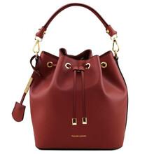 Geanta dama de mana Tuscany Leather din piele rosie Vittoria