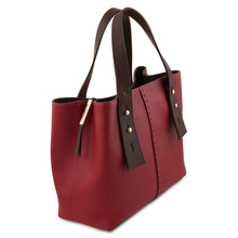 Geanta  din piele naturala Tuscany Leather, rosie