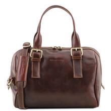 Geanta piele naturala dama Tuscany Leather, maro, Eveline