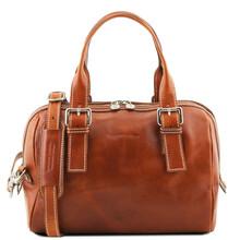 Geanta piele naturala dama Tuscany Leather, honey, Eveline