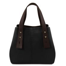 Geanta dama din piele naturala Tuscany Leather, neagra