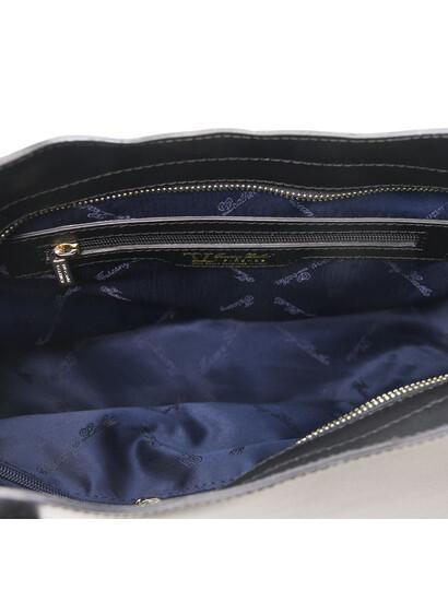 Geanta piele naturala dama Tuscany Leather, neagra, Olimpia