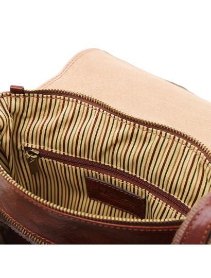 Geanta piele naturala barbati Tuscany Leather, maro, Jimmy