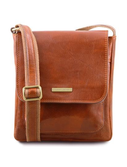 Geanta piele naturala barbati Tuscany Leather, honey, Jimmy